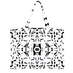 Nums Seamless Tile Mirror Zipper Large Tote Bag