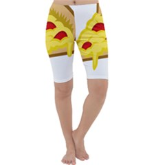 Pasta Salad Pizza Cheese Cropped Leggings
