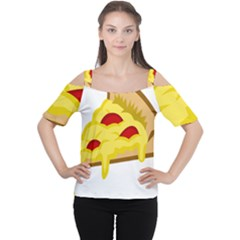 Pasta Salad Pizza Cheese Women s Cutout Shoulder Tee