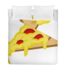 Pasta Salad Pizza Cheese Duvet Cover Double Side (full/ Double Size) by Alisyart