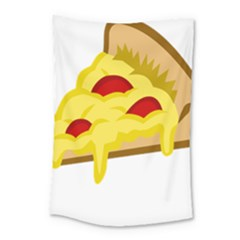 Pasta Salad Pizza Cheese Small Tapestry by Alisyart