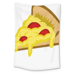 Pasta Salad Pizza Cheese Large Tapestry by Alisyart