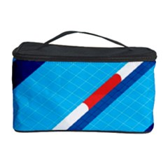 Minimal Swim Blue Illustration Pool Cosmetic Storage Case