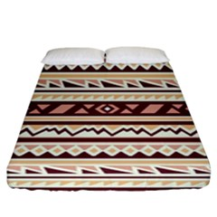 Pattern Tribal Triangle Fitted Sheet (king Size)