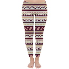 Pattern Tribal Triangle Classic Winter Leggings