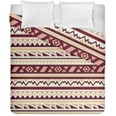 Pattern Tribal Triangle Duvet Cover Double Side (california King Size) by Alisyart