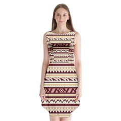 Pattern Tribal Triangle Sleeveless Chiffon Dress   by Alisyart