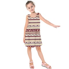 Pattern Tribal Triangle Kids  Sleeveless Dress by Alisyart