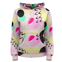 Pink Circle Red Pattern,sexy Women s Pullover Hoodie