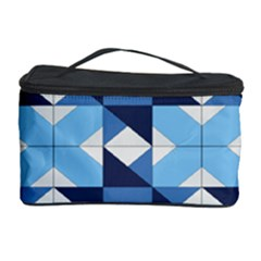 Radiating Star Repeat Blue Cosmetic Storage Case
