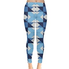 Radiating Star Repeat Blue Classic Winter Leggings