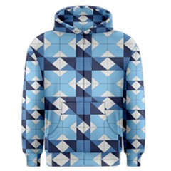 Radiating Star Repeat Blue Men s Zipper Hoodie