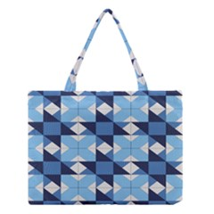 Radiating Star Repeat Blue Medium Tote Bag