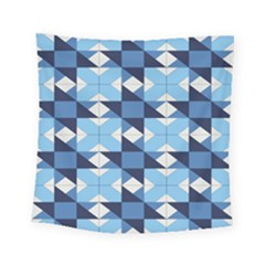 Radiating Star Repeat Blue Square Tapestry (small) by Alisyart