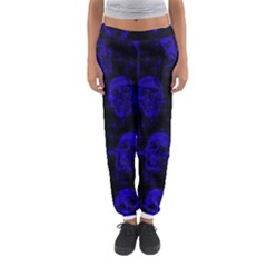 Sparkling Glitter Skulls Blue Women s Jogger Sweatpants by ImpressiveMoments