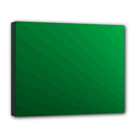 Green Beach Fractal Backdrop Background Deluxe Canvas 20  X 16   by Simbadda