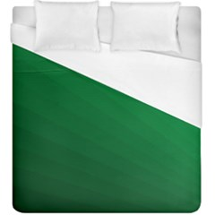 Green Beach Fractal Backdrop Background Duvet Cover (king Size) by Simbadda