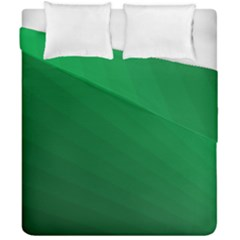 Green Beach Fractal Backdrop Background Duvet Cover Double Side (california King Size) by Simbadda