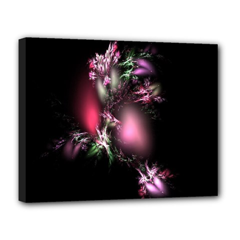 Colour Of Nature Fractal A Nice Fractal Coloured Garden Canvas 14  X 11  by Simbadda