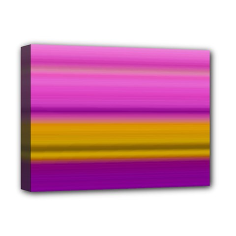Stripes Colorful Background Colorful Pink Red Purple Green Yellow Striped Wallpaper Deluxe Canvas 16  X 12   by Simbadda