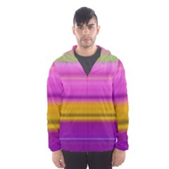 Stripes Colorful Background Colorful Pink Red Purple Green Yellow Striped Wallpaper Hooded Wind Breaker (men) by Simbadda