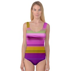 Stripes Colorful Background Colorful Pink Red Purple Green Yellow Striped Wallpaper Princess Tank Leotard  by Simbadda