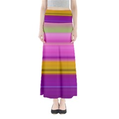 Stripes Colorful Background Colorful Pink Red Purple Green Yellow Striped Wallpaper Maxi Skirts by Simbadda