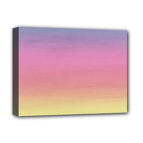 Watercolor Paper Rainbow Colors Deluxe Canvas 16  X 12   by Simbadda