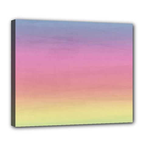 Watercolor Paper Rainbow Colors Deluxe Canvas 24  X 20   by Simbadda
