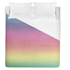 Watercolor Paper Rainbow Colors Duvet Cover (queen Size) by Simbadda
