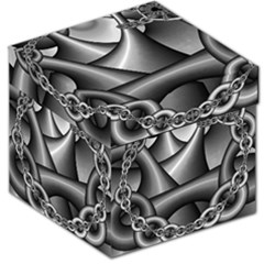Grey Fractal Background With Chains Storage Stool 12