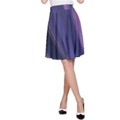 A Pruple Sweeping Fractal Pattern A Line Skirt