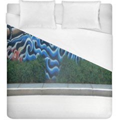 Mural Wall Located Street Georgia Usa Duvet Cover (king Size) by Simbadda