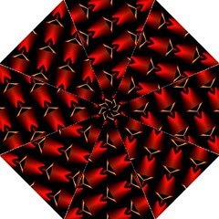 Fractal Background Red And Black Golf Umbrellas by Simbadda