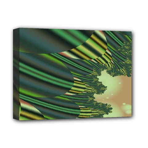 A Feathery Sort Of Green Image Shades Of Green And Cream Fractal Deluxe Canvas 16  X 12