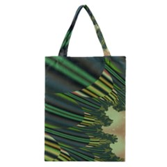 A Feathery Sort Of Green Image Shades Of Green And Cream Fractal Classic Tote Bag by Simbadda
