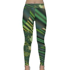 A Feathery Sort Of Green Image Shades Of Green And Cream Fractal Classic Yoga Leggings