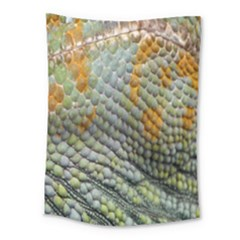 Macro Of Chameleon Skin Texture Background Medium Tapestry