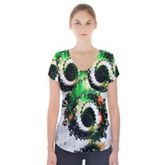 Fractal Universe Computer Graphic Short Sleeve Front Detail Top