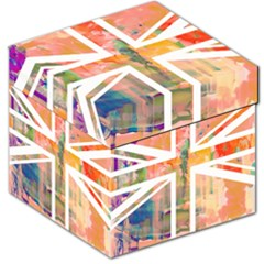 Union Jack Abstract Watercolour Painting Storage Stool 12
