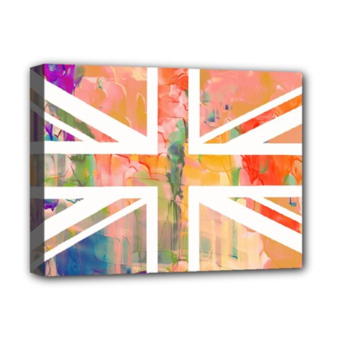 Union Jack Abstract Watercolour Painting Deluxe Canvas 16  X 12   by Simbadda