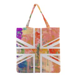 Union Jack Abstract Watercolour Painting Grocery Tote Bag
