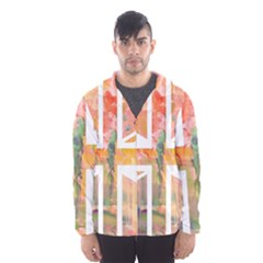 Union Jack Abstract Watercolour Painting Hooded Wind Breaker (men) by Simbadda