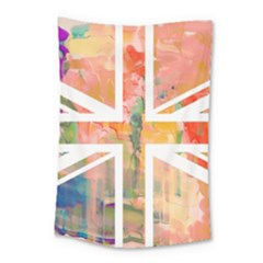 Union Jack Abstract Watercolour Painting Small Tapestry