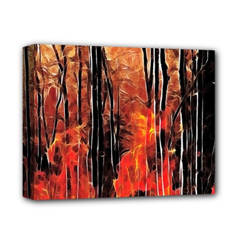Forest Fire Fractal Background Deluxe Canvas 14  X 11  by Simbadda