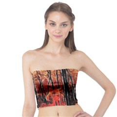 Forest Fire Fractal Background Tube Top