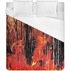 Forest Fire Fractal Background Duvet Cover (california King Size)
