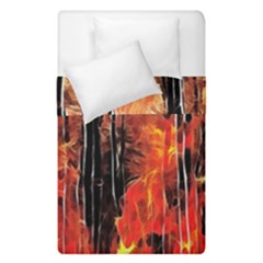 Forest Fire Fractal Background Duvet Cover Double Side (single Size) by Simbadda