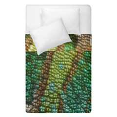 Colorful Chameleon Skin Texture Duvet Cover Double Side (single Size) by Simbadda