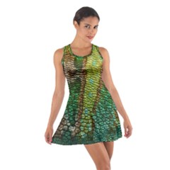 Colorful Chameleon Skin Texture Cotton Racerback Dress by Simbadda